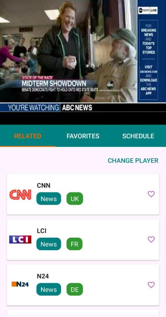 TvTap Pro Channels on Android