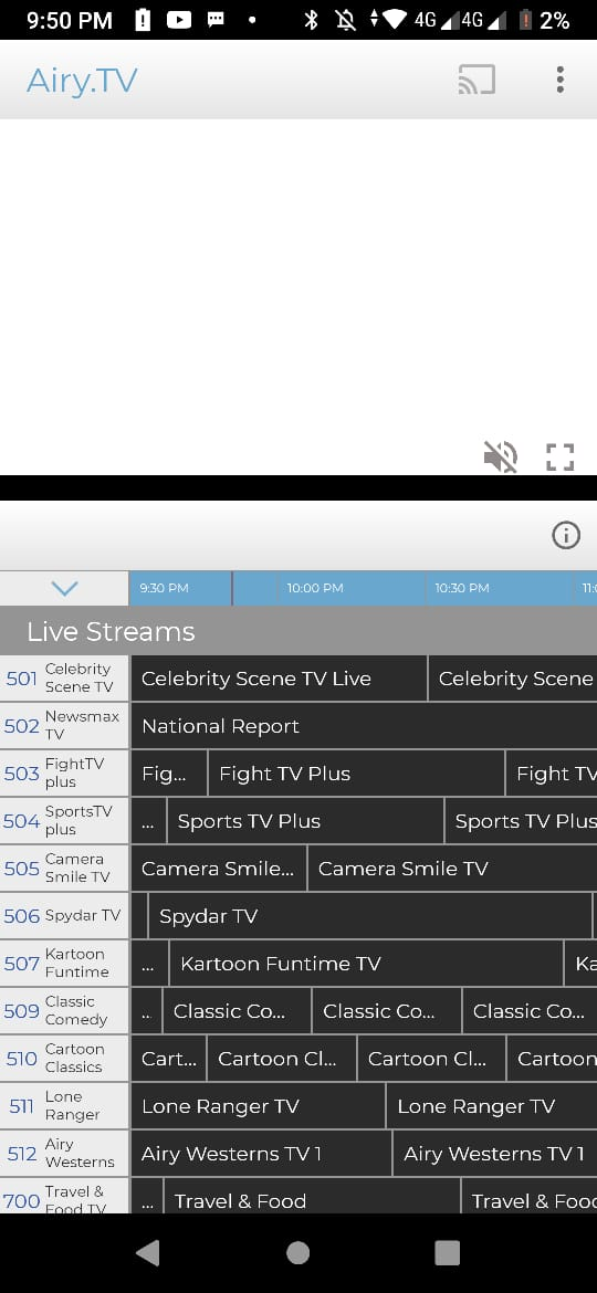 Airy TV App Features