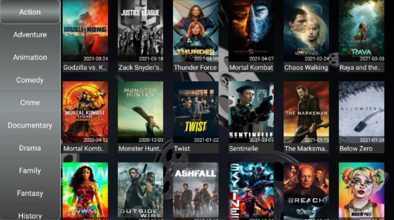 Strix App Movies and TV Shows on FireStick